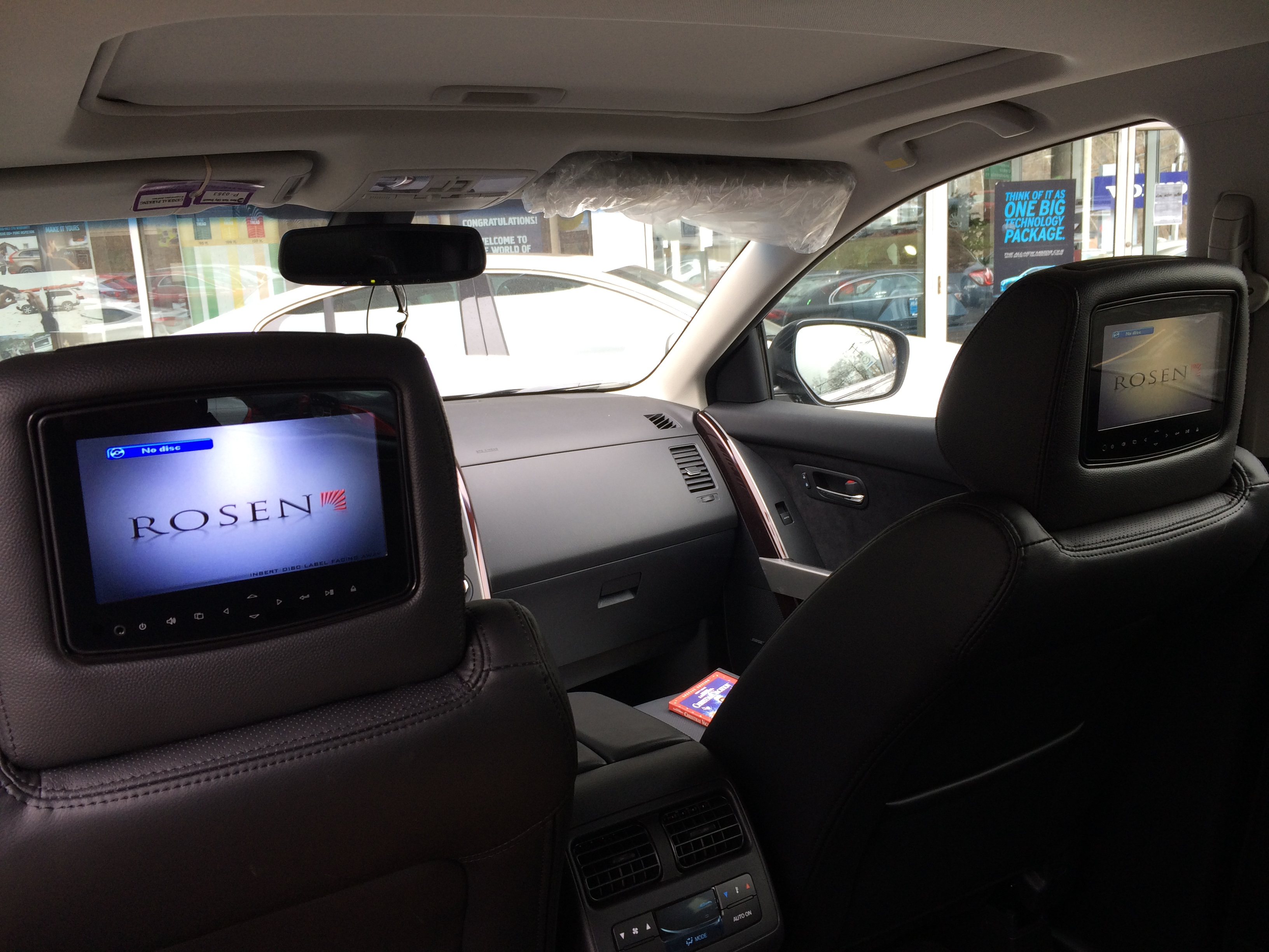 Blossom Installations 187 Dual Headrest Dvd In A 2015 Mazda Cx 9